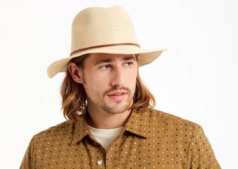 brixton wesley straw hat