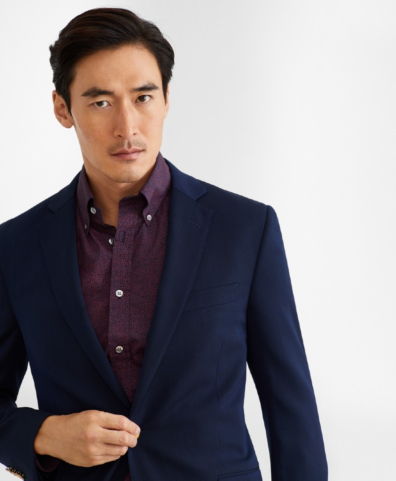brook brothers Regent Fit Two Button Stretch Blazer