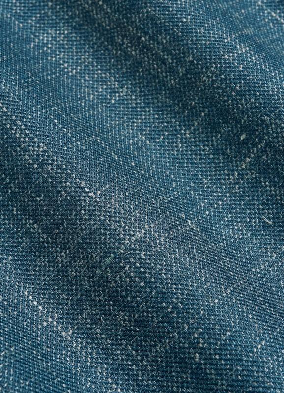 Suit Supply Blue Havana Fabric Close Up
