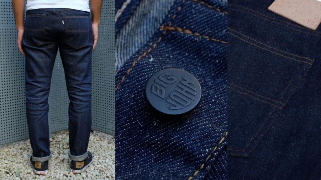 big john okayama denim bamboo jeans
