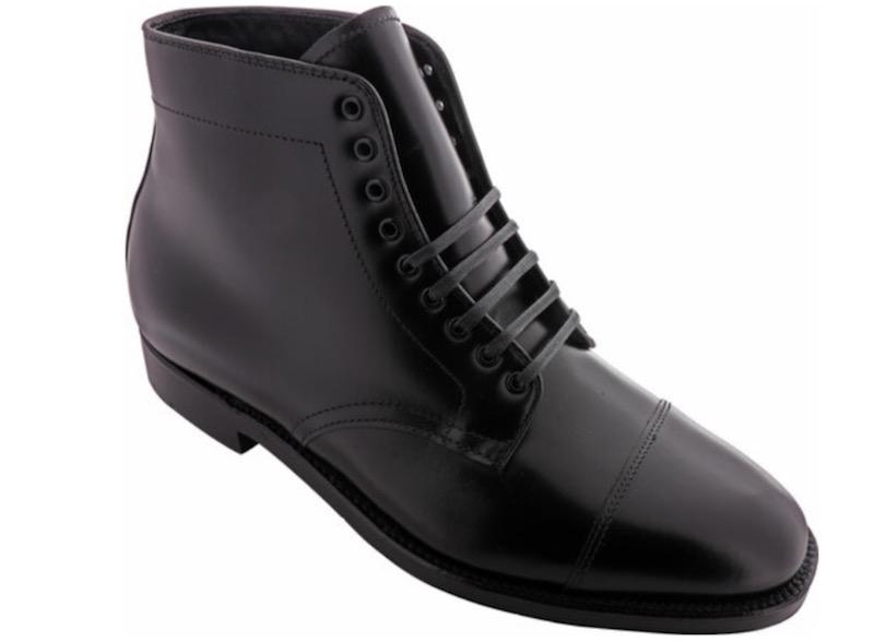 black alden cap toe