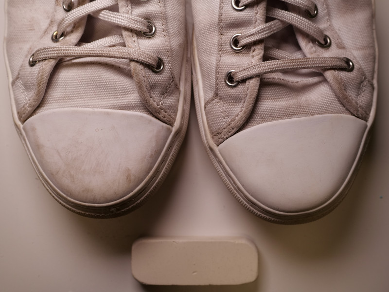 Nothing New Sneakers Cleaned with Mr. Magic Earser