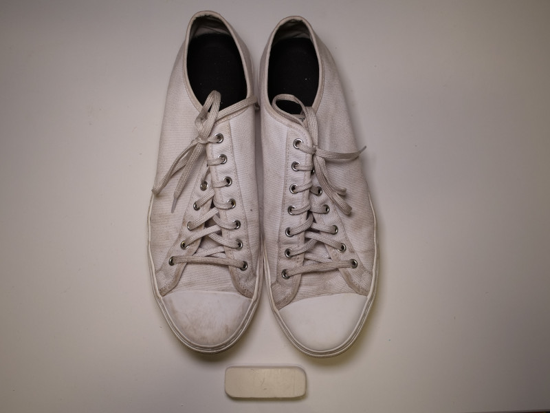 Nothing New Sneakers Cleaned with Mr.Magic Eraser