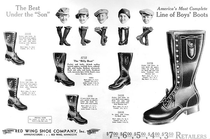 Old Red Wing BIlly Boot Advert