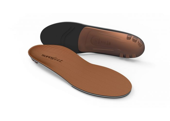 Super Feet Copper Insole, soft footbed and structured footbed add support