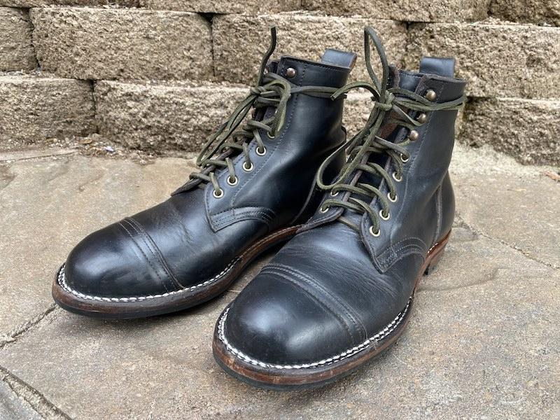 truman boot company black chromexcel pair