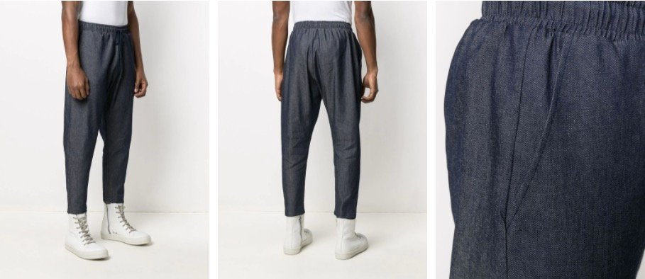 Farfetch chambray trousers