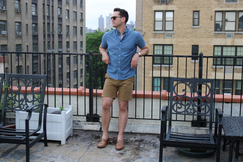 Flint and Tinder 365 Shorts with a blue top