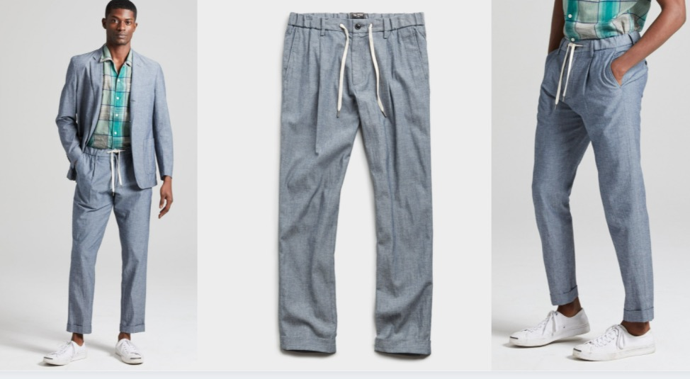 todd snyder chambray trousers