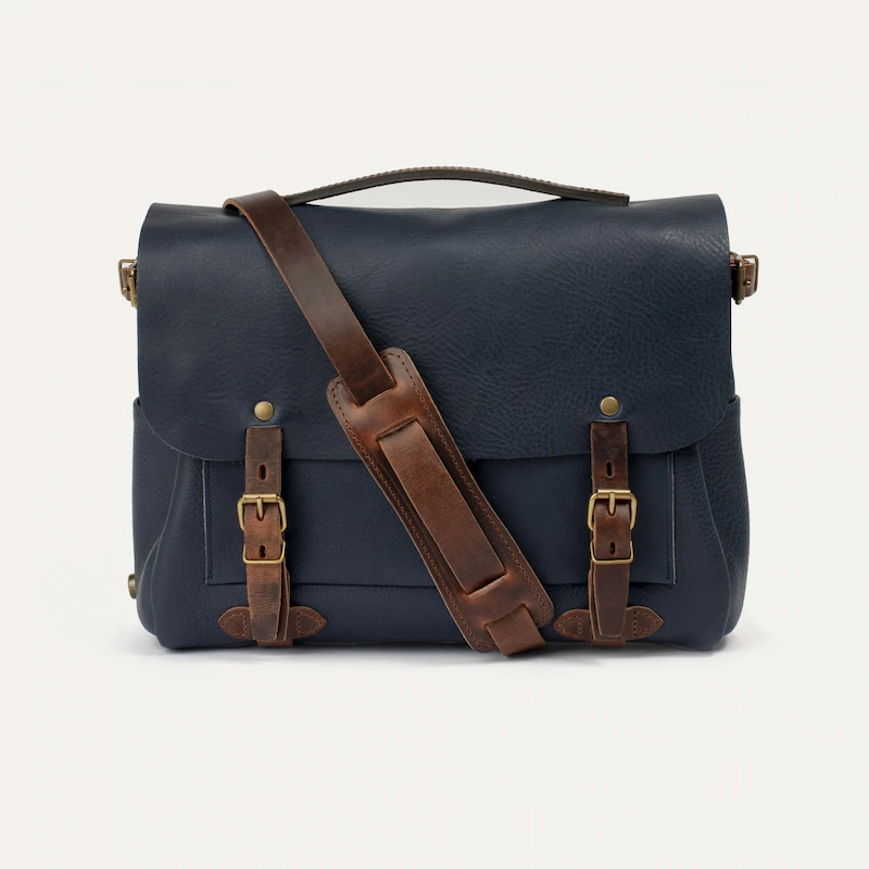 Blue De Chauffe Postman Bag