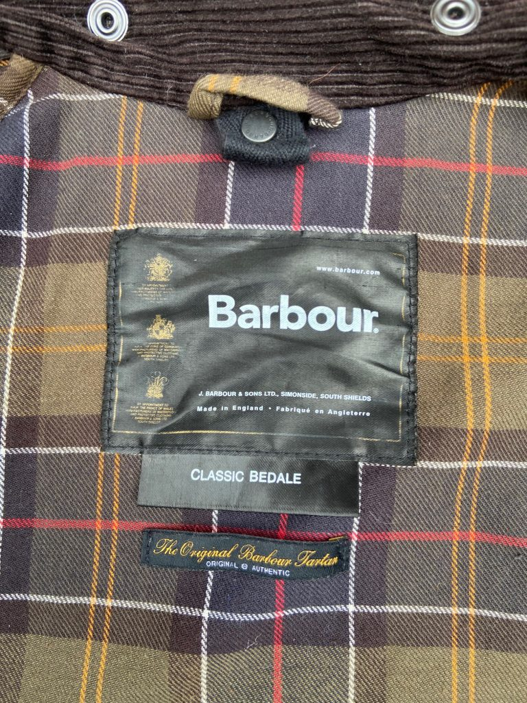 barbour bedale jacket lining