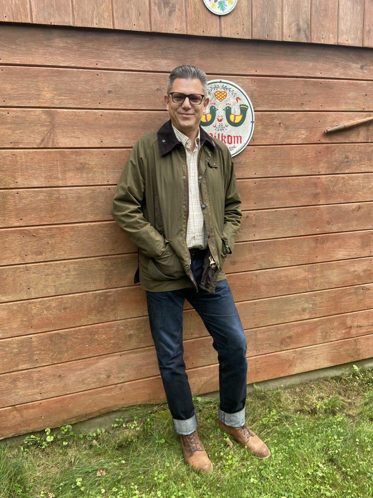 barbour bedale jacket on bod