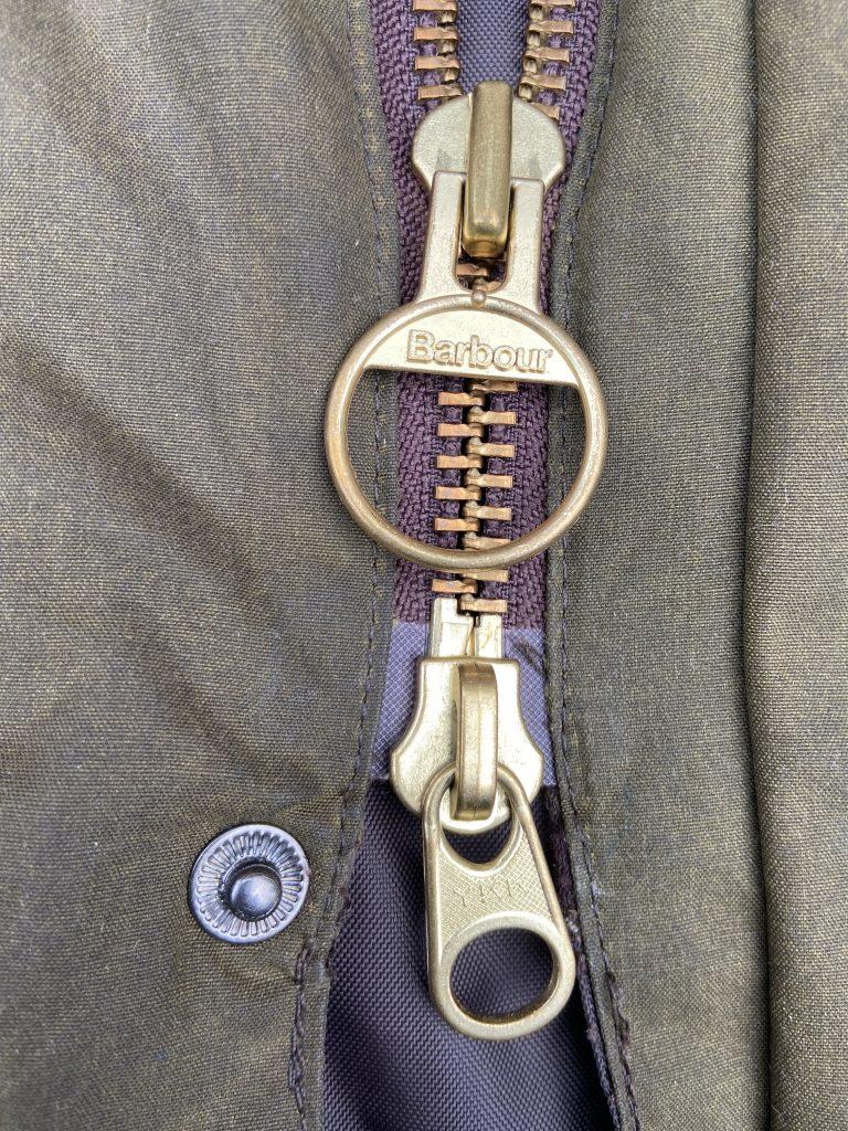 barbour bedale jacket zipper