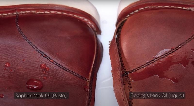 saphir mink oil vs fiebings